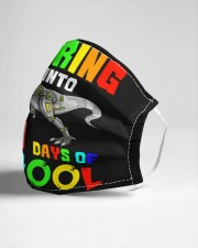 Roaring into 100 days of school Cloth face mask aos-face-mask-lifestyle-21