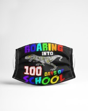 Roaring into 100 days of school Cloth face mask aos-face-mask-lifestyle-22