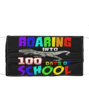 Roaring into 100 days of school Cloth face mask front
