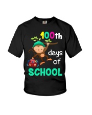 Monkey 100th days of school Youth T-Shirt thumbnail