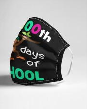 Monkey 100th days of school Cloth face mask aos-face-mask-lifestyle-21