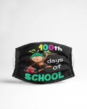 Monkey 100th days of school Cloth face mask aos-face-mask-lifestyle-22
