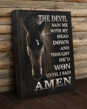 Horse until i said Amen 16x20 Gallery Wrapped Canvas Prints aos-canvas-pgw-16x20-lifestyle-front-19