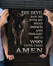 Horse until i said Amen 16x20 Gallery Wrapped Canvas Prints aos-canvas-pgw-16x20-lifestyle-front-24