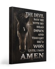 Horse until i said Amen 16x20 Gallery Wrapped Canvas Prints front