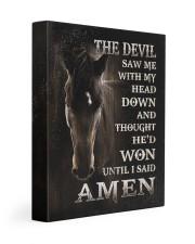Horse until i said Amen Gallery Wrapped Canvas Prints tile