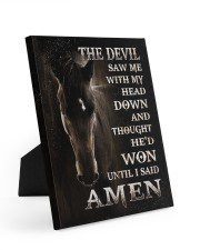 Horse until i said Amen 8x10 Easel-Back Gallery Wrapped Canvas thumbnail