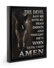 Horse until i said Amen 11x14 Black Floating Framed Canvas Prints thumbnail