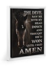 Horse until i said Amen 11x14 White Floating Framed Canvas Prints thumbnail