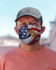 Golden Retriever puppy America flag Cloth face mask aos-face-mask-lifestyle-06