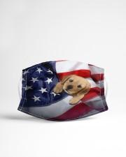 Golden Retriever puppy America flag Cloth face mask aos-face-mask-lifestyle-22