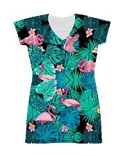 Aloha flamingo All-Over Dress tile