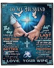 To my husband blanket cross Fleece Blanket tile