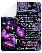 "To granddaughter grandma blanket butterfly Sherpa Fleece Blanket - 50"" x 60"" thumbnail"