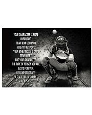 baseball your character is more important 17x11 Poster thumbnail