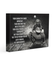 baseball your character is more important Gallery Wrapped Canvas Prints tile