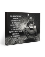 baseball your character is more important 20x16 Gallery Wrapped Canvas Prints front