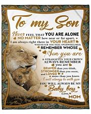 "To my son mom lion remember braver Fleece Blanket - 50"" x 60"" front"