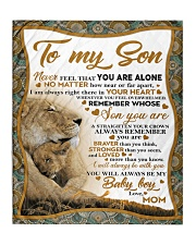 """To my son mom lion remember braver Quilt 50""""x60"""" - Throw thumbnail"""