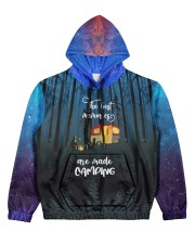 camping memory all over printed Women's All Over Print Hoodie front