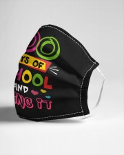 100 days of school and loving it Cloth face mask aos-face-mask-lifestyle-21