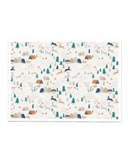 camping forest mask Sticker - Single (Horizontal) thumbnail