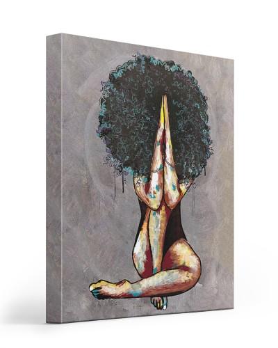 black woman portrait canvas
