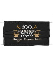 100 days smarter Cloth face mask front
