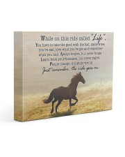 horse the ride goes on Gallery Wrapped Canvas Prints tile