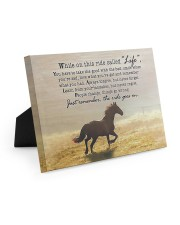 horse the ride goes on 10x8 Easel-Back Gallery Wrapped Canvas thumbnail
