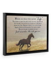 horse the ride goes on 14x11 Black Floating Framed Canvas Prints thumbnail