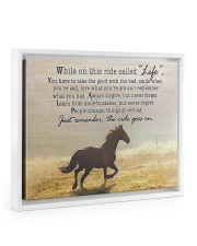 horse the ride goes on 14x11 White Floating Framed Canvas Prints thumbnail