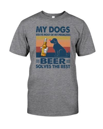 my dogs beer solve problems vintage