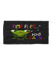 Time Flies 100 Days Cloth face mask front