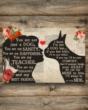Boston Terrier girl poster 24x16 Poster aos-poster-landscape-24x16-lifestyle-15