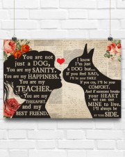 Boston Terrier girl poster 24x16 Poster aos-poster-landscape-24x16-lifestyle-18