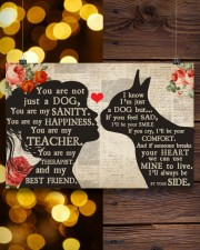 Boston Terrier girl poster 24x16 Poster aos-poster-landscape-24x16-lifestyle-30
