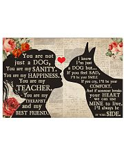 Boston Terrier girl poster 24x16 Poster front