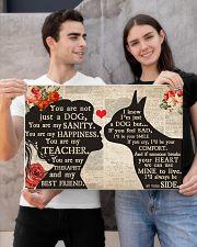 Boston Terrier girl poster 24x16 Poster poster-landscape-24x16-lifestyle-21