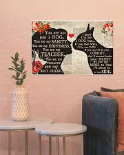 Boston Terrier girl poster 24x16 Poster poster-landscape-24x16-lifestyle-22