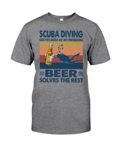 scuba diving beer solve problems vintage