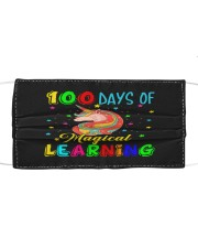 100 days of magical learning Cloth face mask front