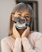 pug Line mask Cloth Face Mask - 5 Pack aos-face-mask-lifestyle-17