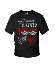 My teacher survived 100 days of me Youth T-Shirt tile