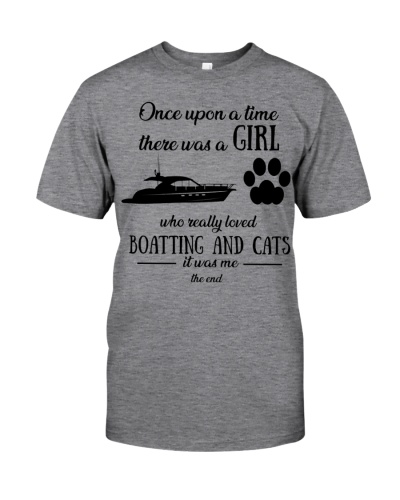 Once upon time girl loved boating cats