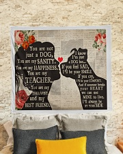 """Dog girl tapestry Wall Tapestry - 60"""" x 51"""" aos-wall-tapestry-80x68-lifestyle-front-02"""