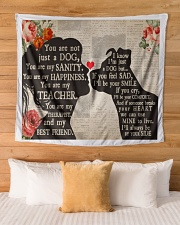 """Dog girl tapestry Wall Tapestry - 60"""" x 51"""" aos-wall-tapestry-80x68-lifestyle-front-03"""