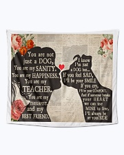 """Dog girl tapestry Wall Tapestry - 60"""" x 51"""" aos-wall-tapestry-80x68-lifestyle-front-04"""