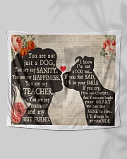 """Dog girl tapestry Wall Tapestry - 60"""" x 51"""" aos-wall-tapestry-80x68-lifestyle-front-05"""