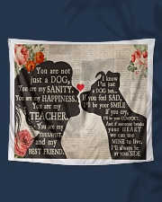 """Dog girl tapestry Wall Tapestry - 60"""" x 51"""" aos-wall-tapestry-80x68-lifestyle-front-07"""